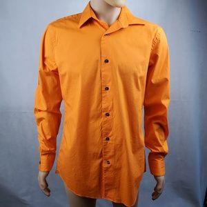 🔴SALE🔴 Apt. 9 Orange Slim Fit Button Down Sz 16